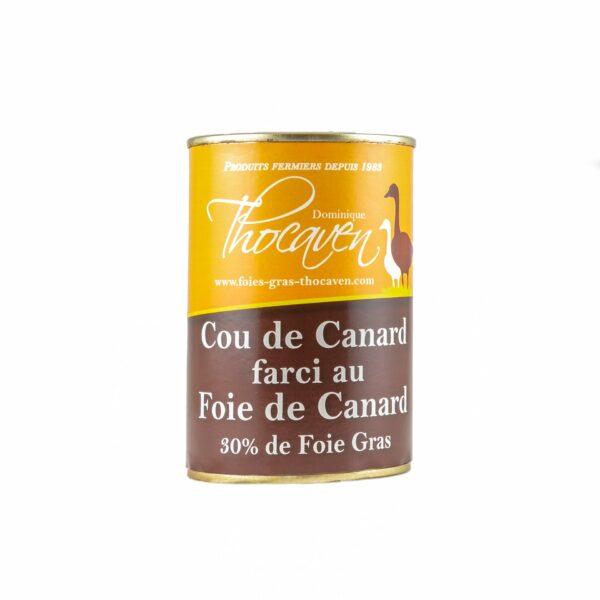 Cou de canard farci au foie gras - Fabrication artisanale