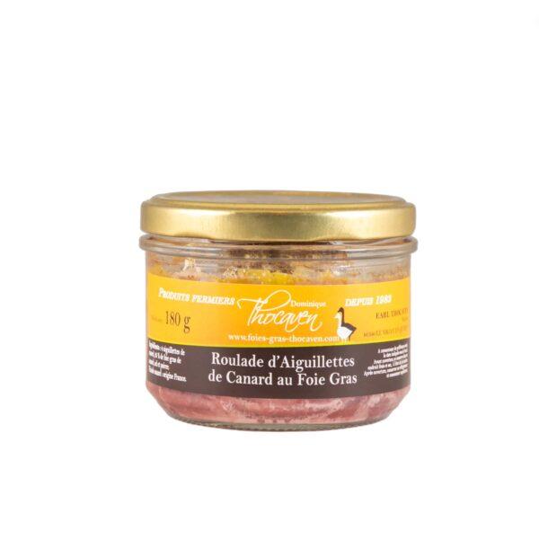 Roulade d'aiguillettes de canard au foie gras