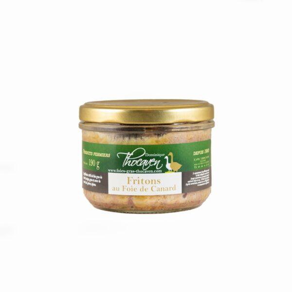 Fritons au foie de canard - Fabrication artisanale